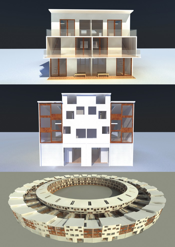 Einzeln und Gesamtkonstruktion
