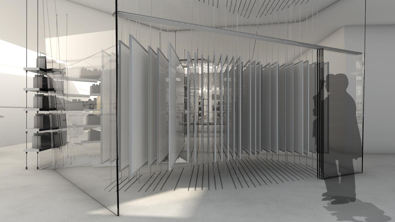 Kunstträger (transparente Leinwände) werden zum Kunstobjekt